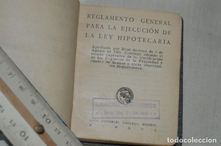Libros antiguos: CALLEJA - BIBLIOTECA DEL DERECHO VIGENTE - REGLAMENTO HIPOTECARIO - PRINCIPIOS DE 1900 - ¡Mira! - Foto 6 - 169288792