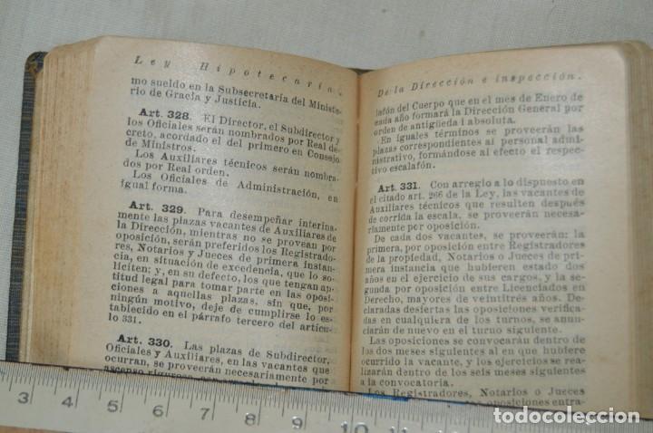 Libros antiguos: CALLEJA - BIBLIOTECA DEL DERECHO VIGENTE - REGLAMENTO HIPOTECARIO - PRINCIPIOS DE 1900 - ¡Mira! - Foto 8 - 169288792