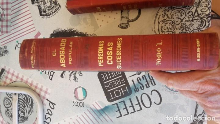 Libros antiguos: El Abogado Popular, 3 tomos 1898 por D. Pedro Huguet y Campaña - Foto 2 - 169300964