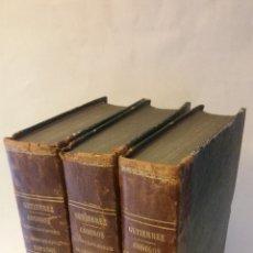 Libros antiguos: 1862 - GUTIÉRREZ - CÓDIGOS Ó ESTUDIOS FUNDAMENTALES SOBRE EL DERECHO CIVIL ESPAÑOL. 3 TOMOS. Lote 169577664