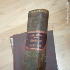 Libros antiguos: DERECHO POLITICO GONZALO DEL CASTILLO ALONSO -1929. Lote 170016512