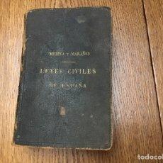 Libros antiguos: LIBRO LEYES CIVILES DE ESPAÑA. 1925. Lote 170380444