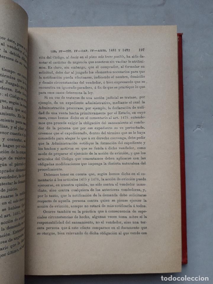 Libros antiguos: Comentarios al Código Civil Español. José Mª Manresa y Navarro. Año 1905. - Foto 3 - 171024732