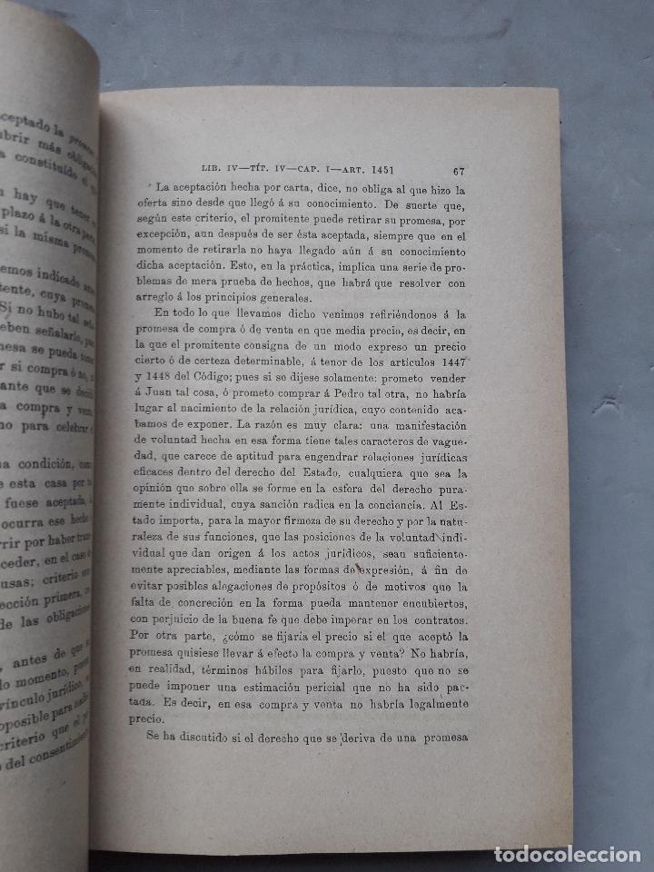Libros antiguos: Comentarios al Código Civil Español. José Mª Manresa y Navarro. Año 1905. - Foto 4 - 171024732