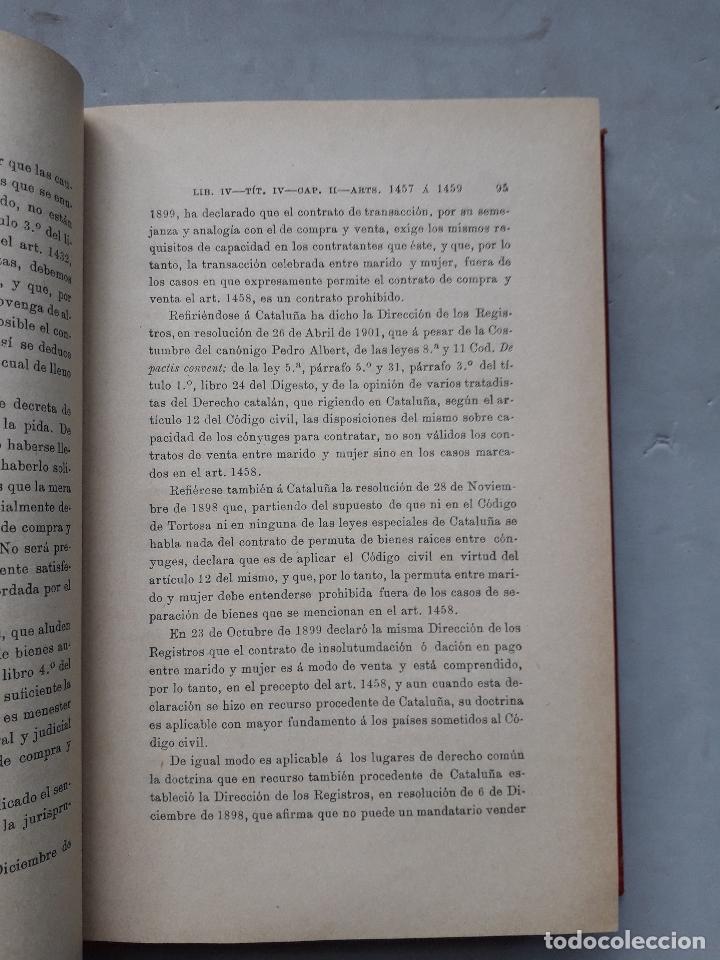Libros antiguos: Comentarios al Código Civil Español. José Mª Manresa y Navarro. Año 1905. - Foto 5 - 171024732