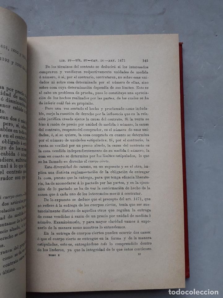 Libros antiguos: Comentarios al Código Civil Español. José Mª Manresa y Navarro. Año 1905. - Foto 6 - 171024732