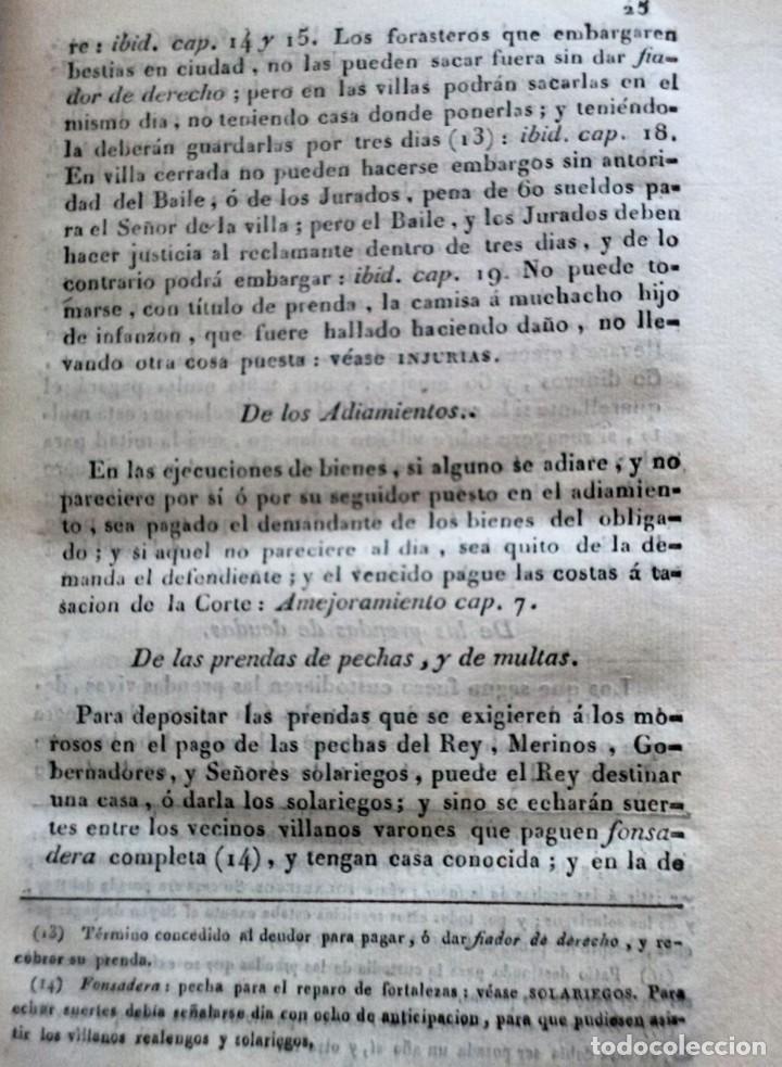 Libros antiguos: Diccionarios de los fueros del Reino de Navarra y de las leyes vigentes .... (1828) - Foto 4 - 171765345