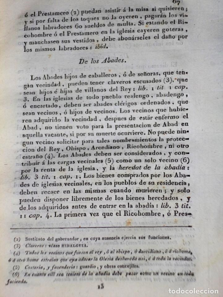 Libros antiguos: Diccionarios de los fueros del Reino de Navarra y de las leyes vigentes .... (1828) - Foto 7 - 171765345
