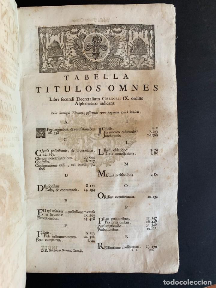 Libros antiguos: 1756 - González Téllez - Escuela de Salamanca - Derecho - Pergamino - Foto 3 - 171911355