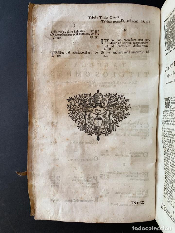 Libros antiguos: 1756 - González Téllez - Escuela de Salamanca - Derecho - Pergamino - Foto 4 - 171911355