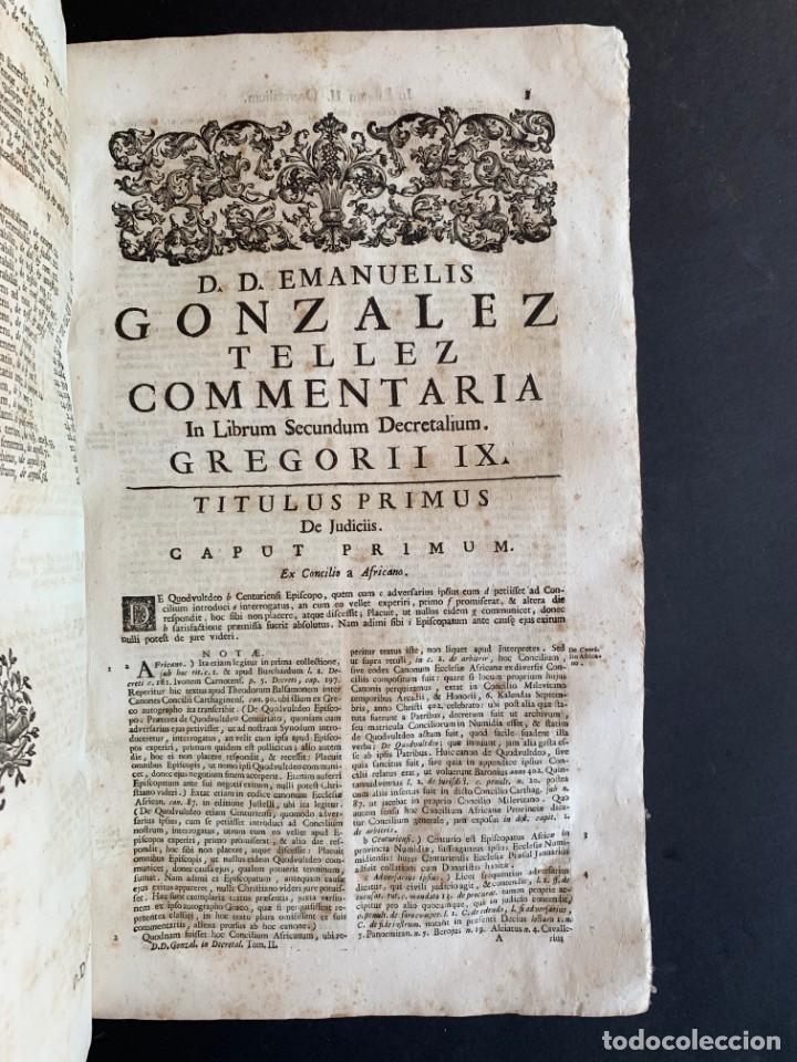 Libros antiguos: 1756 - González Téllez - Escuela de Salamanca - Derecho - Pergamino - Foto 6 - 171911355