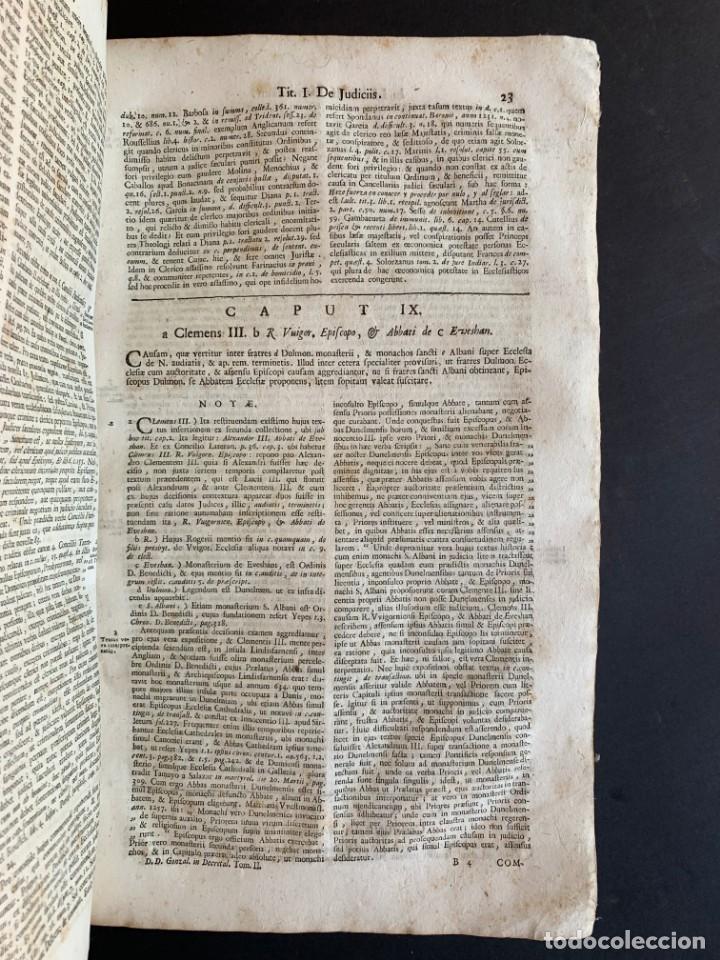 Libros antiguos: 1756 - González Téllez - Escuela de Salamanca - Derecho - Pergamino - Foto 7 - 171911355