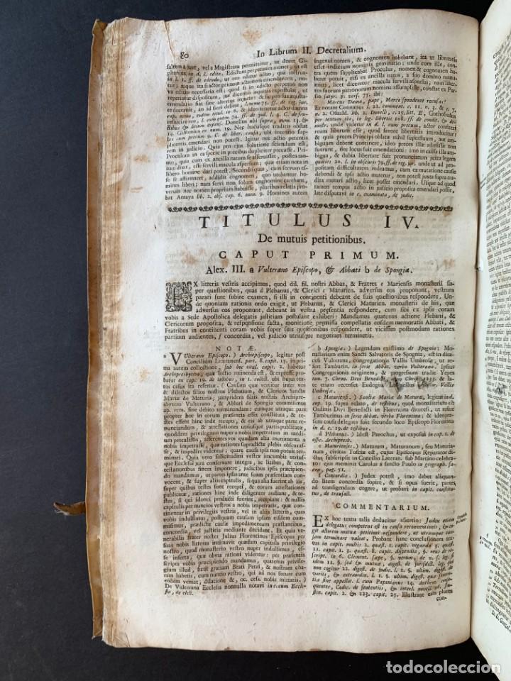 Libros antiguos: 1756 - González Téllez - Escuela de Salamanca - Derecho - Pergamino - Foto 8 - 171911355