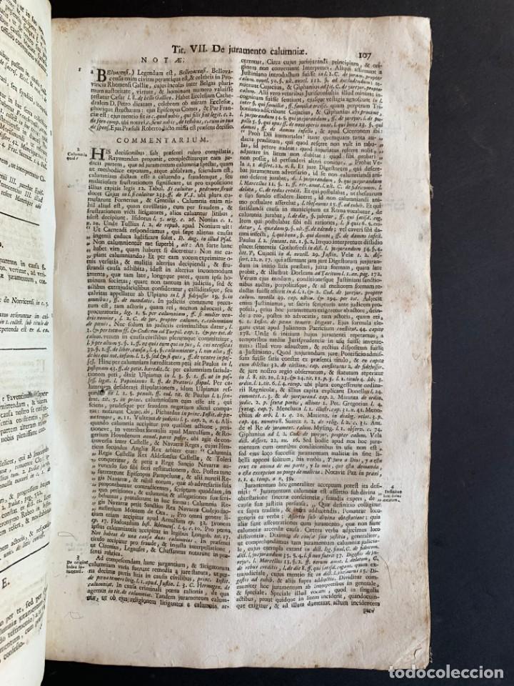Libros antiguos: 1756 - González Téllez - Escuela de Salamanca - Derecho - Pergamino - Foto 9 - 171911355