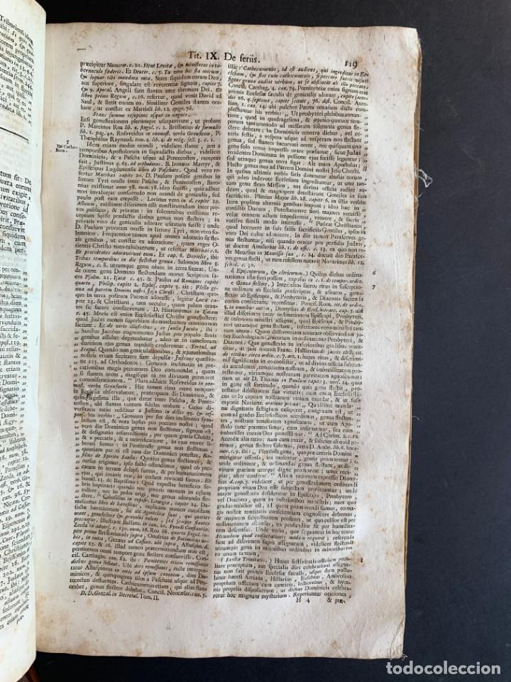 Libros antiguos: 1756 - González Téllez - Escuela de Salamanca - Derecho - Pergamino - Foto 10 - 171911355