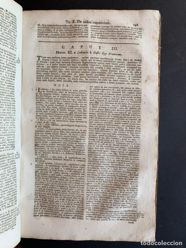 Libros antiguos: 1756 - González Téllez - Escuela de Salamanca - Derecho - Pergamino - Foto 11 - 171911355