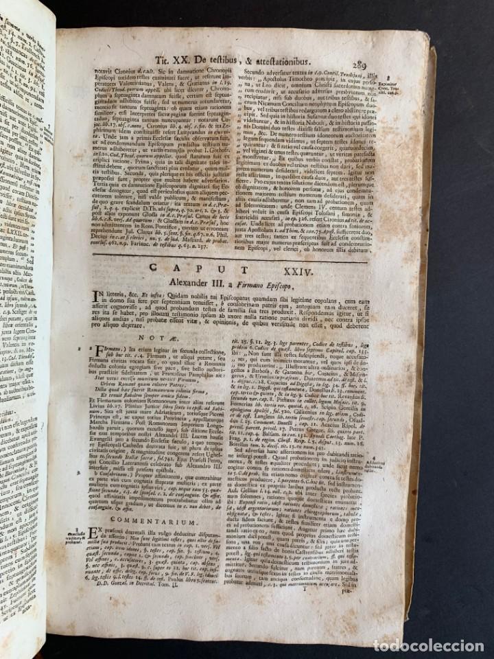 Libros antiguos: 1756 - González Téllez - Escuela de Salamanca - Derecho - Pergamino - Foto 13 - 171911355