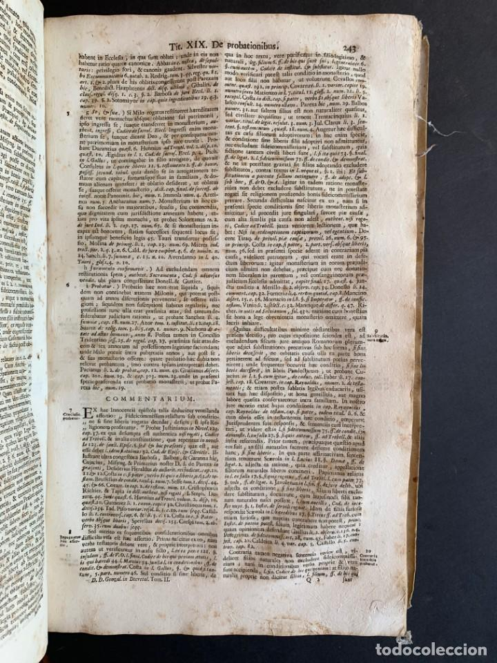 Libros antiguos: 1756 - González Téllez - Escuela de Salamanca - Derecho - Pergamino - Foto 14 - 171911355