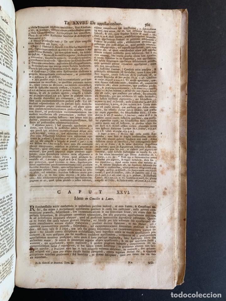 Libros antiguos: 1756 - González Téllez - Escuela de Salamanca - Derecho - Pergamino - Foto 17 - 171911355