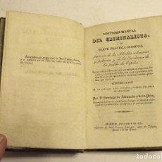 Libros antiguos: 1832, NOVÍSIMO MANUAL DEL ESCRIBANO CRIMINALISTA. SANTIAGO DE ALVARADO Y DE LA PEÑA. Lote 172086497