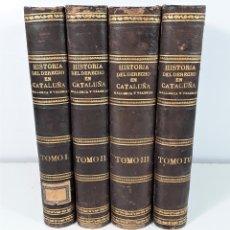Libros antiguos: HISTORIA DEL DERECHO EN CATALUÑA, MALLORCA Y VALENCIA. IMP. M. GINESTA. 1876/81.. Lote 172452908