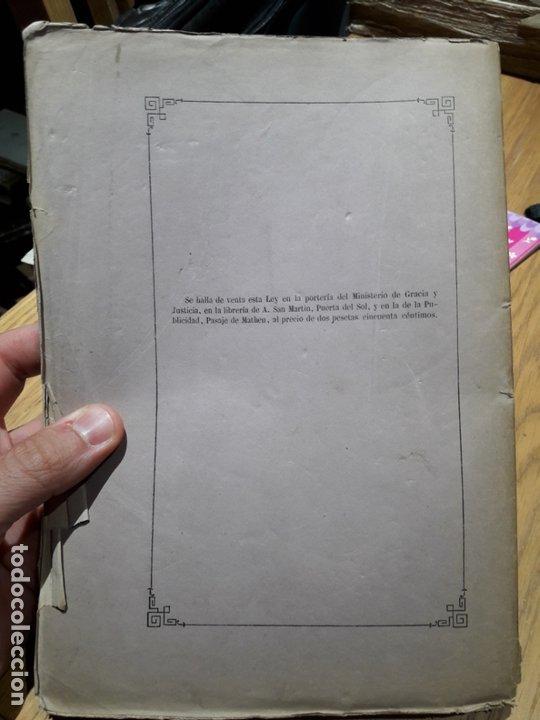Libros antiguos: LEY PROVISIONAL DE ENJUICIAMIENTO CRIMINAL, Madrid, Ministerio de Gracia y Justicia, 1872 - Foto 2 - 173030268