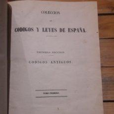 Libros antiguos: COLECCIÓN DE CÓDIGOS Y LEYES DE ESPAÑA. FRANCISCO ROIG, MADRID 1865. Lote 173099543