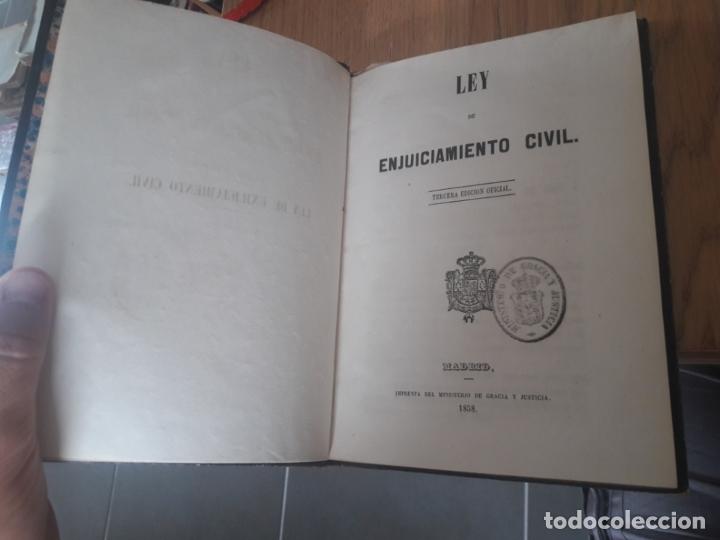 LEY DE ENJUICIAMIENTO CIVIL AA.VV. MINISTERIO DE GRACIA Y JUSTICIA, MADRID 1858. (Libros Antiguos, Raros y Curiosos - Ciencias, Manuales y Oficios - Derecho, Economía y Comercio)