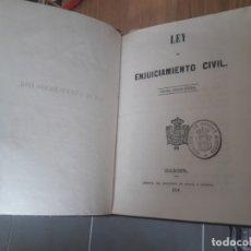 Libros antiguos: LEY DE ENJUICIAMIENTO CIVIL AA.VV. MINISTERIO DE GRACIA Y JUSTICIA, MADRID 1858.. Lote 173121098