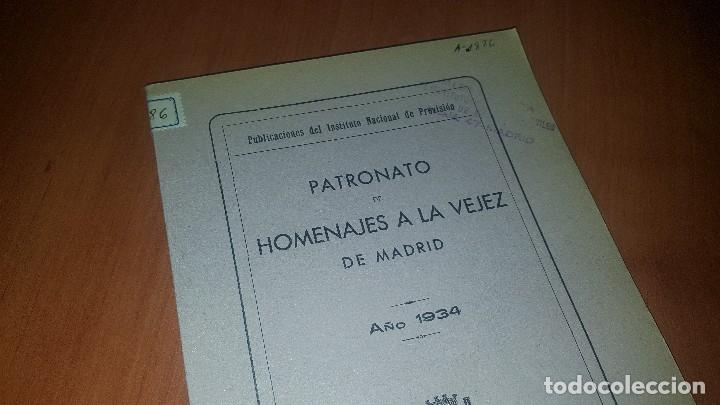 Libros antiguos: Patronato de homenajes a la vejez de madrid, año 1934 - Foto 2 - 173603504