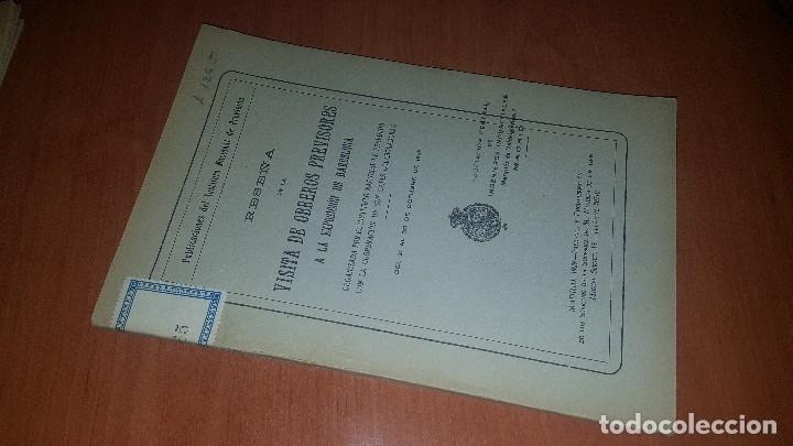 RESEÑA DE LA VISITA DE OBREROS PREVISORES A LA EXPOSICION DE BARCELONA, MADRID 1929 (Libros Antiguos, Raros y Curiosos - Ciencias, Manuales y Oficios - Derecho, Economía y Comercio)