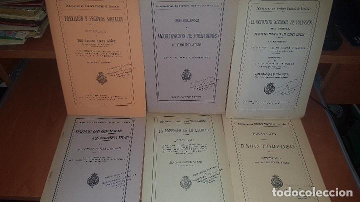 7 PUBLICACIONES DEL INSTITUTO NACIONAL DE PREVISION, DE 1925-1927-1928-1929-1930, VER FOTOS ADJUNTAS (Libros Antiguos, Raros y Curiosos - Ciencias, Manuales y Oficios - Derecho, Economía y Comercio)