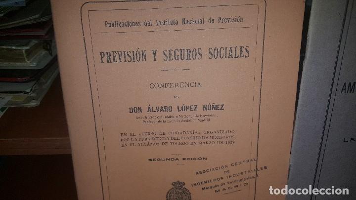 Libros antiguos: 7 publicaciones del instituto nacional de prevision, de 1925-1927-1928-1929-1930, ver fotos adjuntas - Foto 2 - 173623174