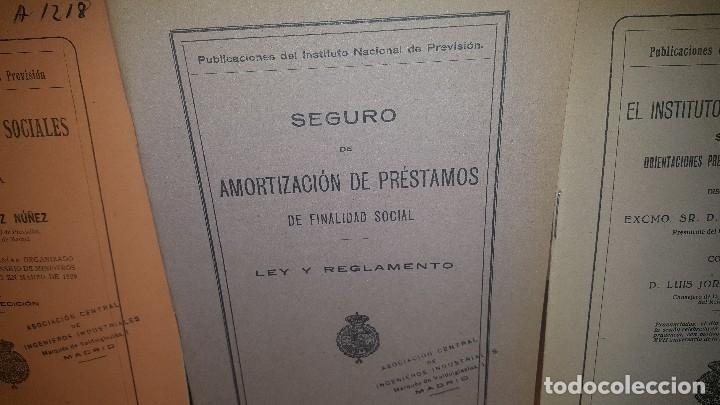 Libros antiguos: 7 publicaciones del instituto nacional de prevision, de 1925-1927-1928-1929-1930, ver fotos adjuntas - Foto 3 - 173623174