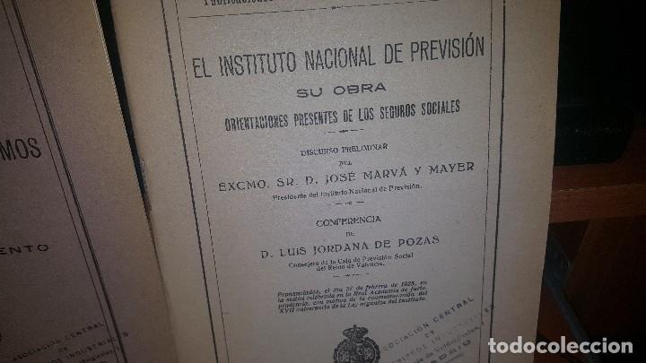 Libros antiguos: 7 publicaciones del instituto nacional de prevision, de 1925-1927-1928-1929-1930, ver fotos adjuntas - Foto 4 - 173623174