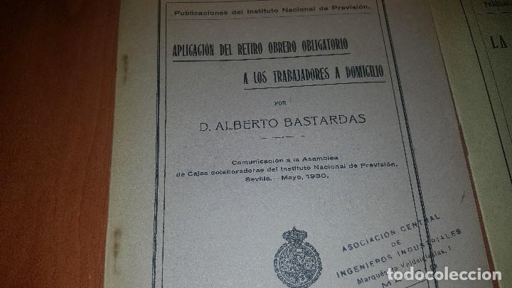 Libros antiguos: 7 publicaciones del instituto nacional de prevision, de 1925-1927-1928-1929-1930, ver fotos adjuntas - Foto 5 - 173623174