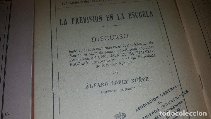 Libros antiguos: 7 publicaciones del instituto nacional de prevision, de 1925-1927-1928-1929-1930, ver fotos adjuntas - Foto 6 - 173623174