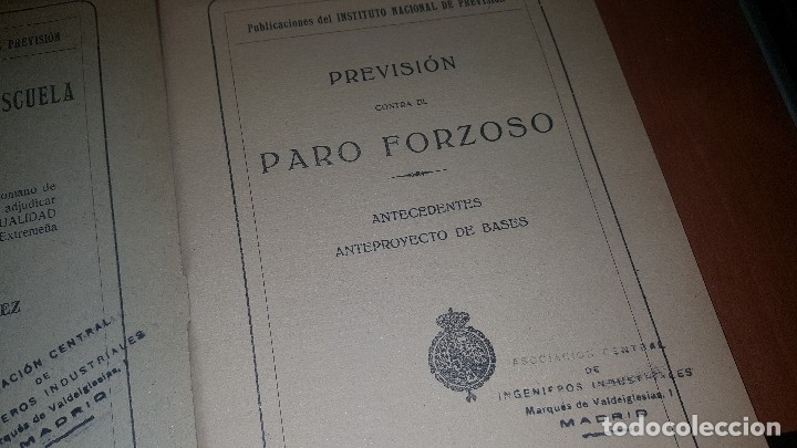 Libros antiguos: 7 publicaciones del instituto nacional de prevision, de 1925-1927-1928-1929-1930, ver fotos adjuntas - Foto 7 - 173623174