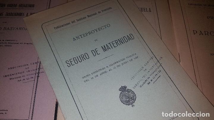Libros antiguos: 7 publicaciones del instituto nacional de prevision, de 1925-1927-1928-1929-1930, ver fotos adjuntas - Foto 8 - 173623174