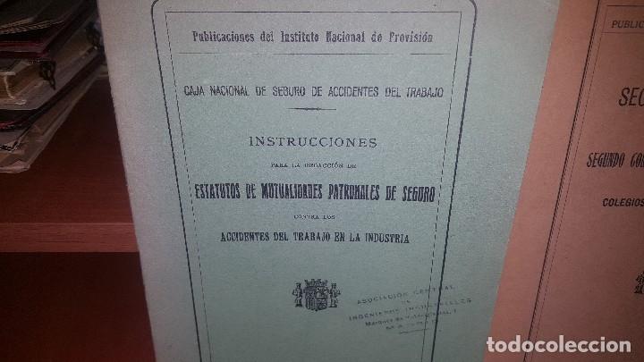 Libros antiguos: 7 publicaciones del instituto nacional de prevision, de 1932 y 1933, ver fotos adjuntas - Foto 2 - 173623473