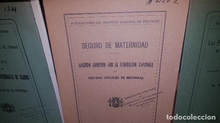 Libros antiguos: 7 publicaciones del instituto nacional de prevision, de 1932 y 1933, ver fotos adjuntas - Foto 3 - 173623473