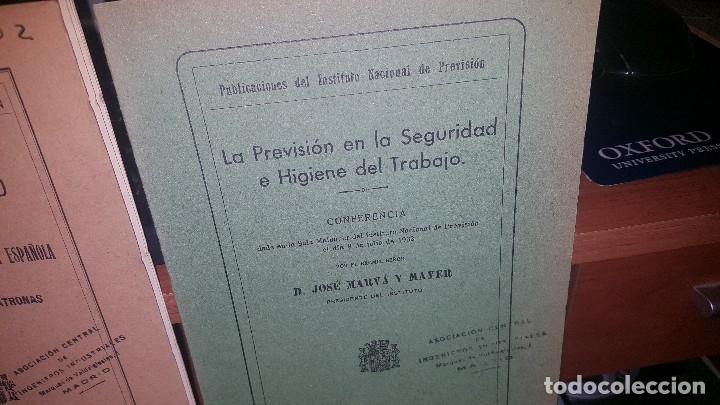 Libros antiguos: 7 publicaciones del instituto nacional de prevision, de 1932 y 1933, ver fotos adjuntas - Foto 4 - 173623473