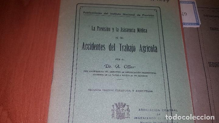 Libros antiguos: 7 publicaciones del instituto nacional de prevision, de 1932 y 1933, ver fotos adjuntas - Foto 5 - 173623473