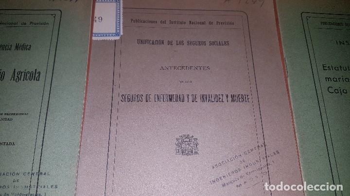 Libros antiguos: 7 publicaciones del instituto nacional de prevision, de 1932 y 1933, ver fotos adjuntas - Foto 6 - 173623473