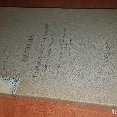 Libros antiguos: MEMORIA DE LOS TRABAJOS DE LA CAMARA OFICIAL PROVINCIA DE MADRID, AÑO DE 1914. Lote 173624592