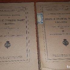 Libros antiguos: CONFERENCIA NACIONAL DE SEGUROS DE ENFERMEDAD, INVALIDEZ Y MATERNIDAD, 2 TOMOS, BARCELONA 1922. Lote 173834778