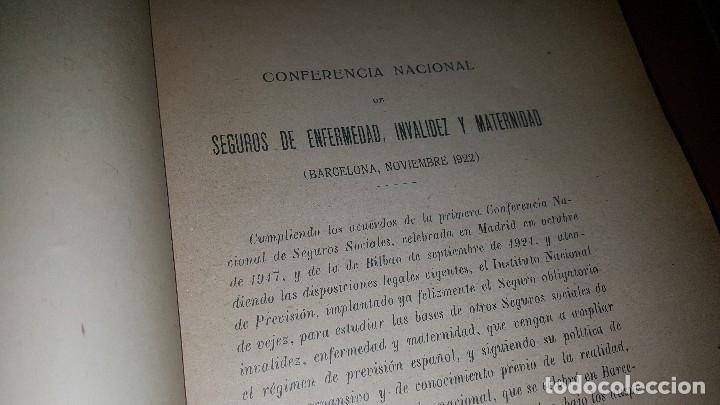Libros antiguos: Conferencia nacional de seguros de enfermedad, invalidez y maternidad, 2 tomos, barcelona 1922 - Foto 6 - 173834778