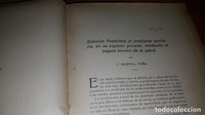 Libros antiguos: Conferencia nacional de seguros de enfermedad, invalidez y maternidad, 2 tomos, barcelona 1922 - Foto 9 - 173834778
