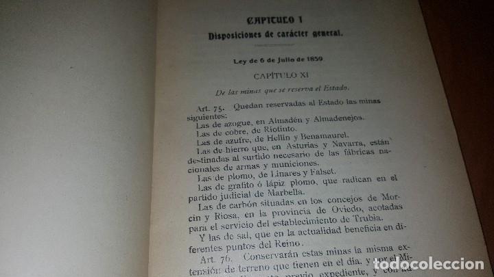 Libros antiguos: Minas y salinas propiedad del estado, año de 1916..disposiciones legales referentes a las minas de.. - Foto 2 - 173865507