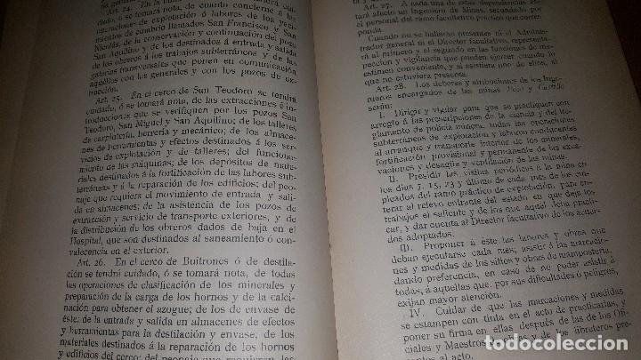 Libros antiguos: Minas y salinas propiedad del estado, año de 1916..disposiciones legales referentes a las minas de.. - Foto 4 - 173865507